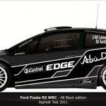 Les Fiesta WRC en noire pour le Rallye de France