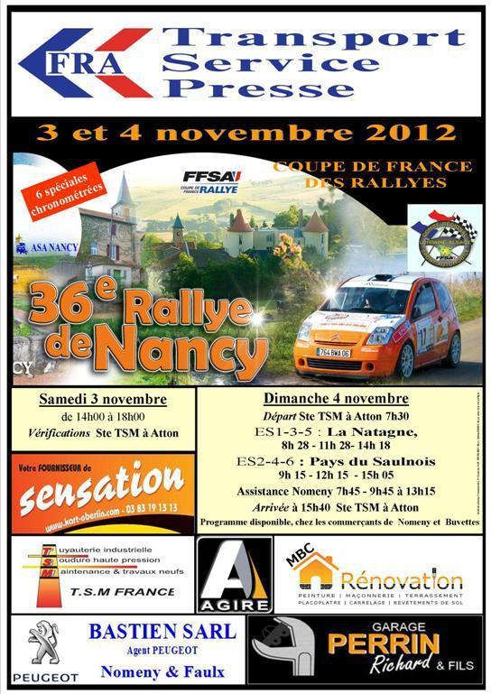 Rallye de Nancy 2012