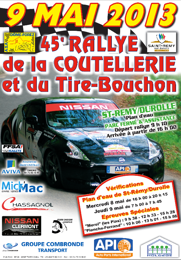Rallye Coutellerie 2013 Tire Bouchon