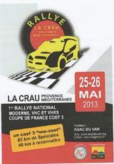Programme Rallye La Crau 2013