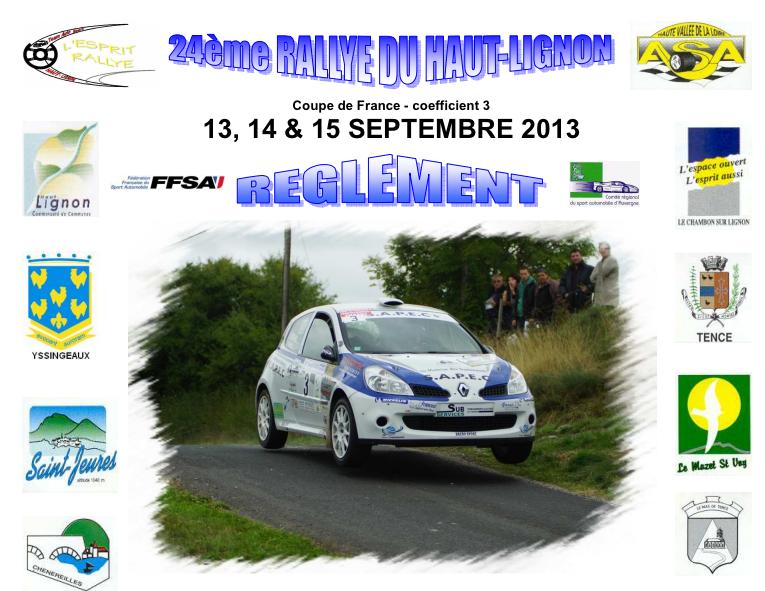 Programme Rallye Haut Lignon 2013