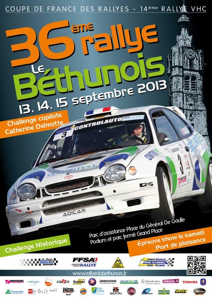 Classement Rallye du Bethunois 2013