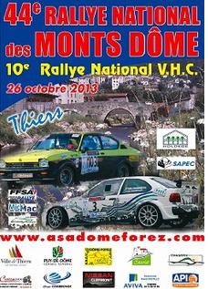 Programme Rallye Monts-Dome 2013