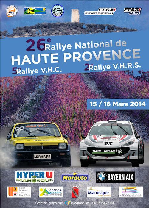 Programme Rallye de Haute-Provence 2014