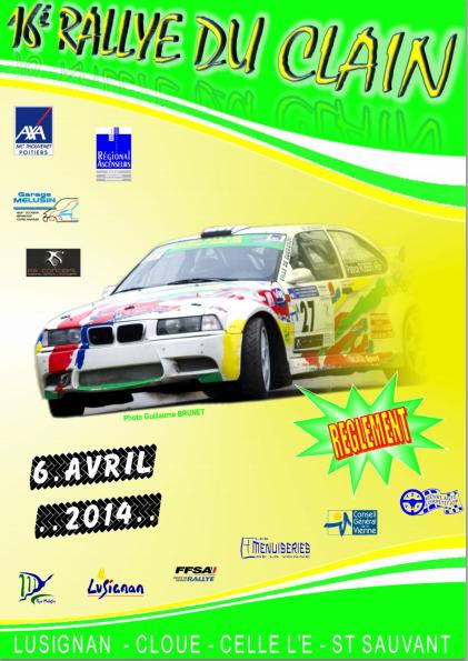 Programme Rallye du Clain 2014