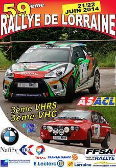 Programme Rallye de Lorraine 2014
