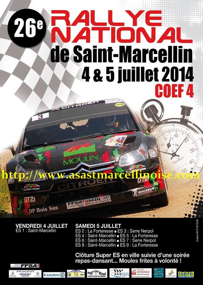 Direct Rallye St Marcellin 2014