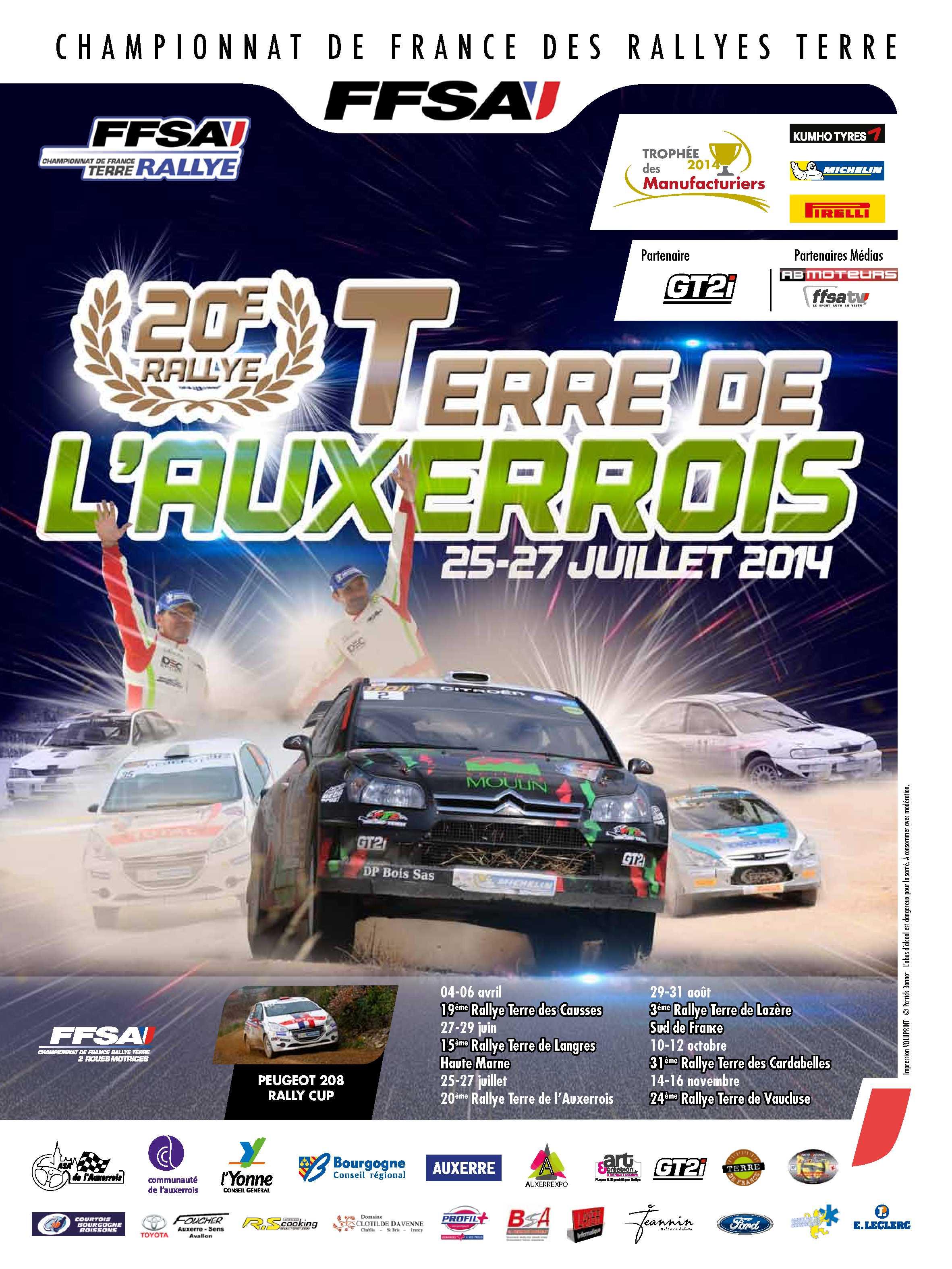 Rallye Terre de l'Auxerrois 2014