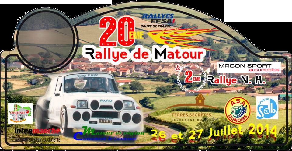 Classement Rallye de Matour 2014