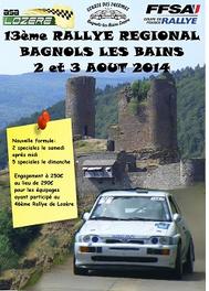 Rallye de Bagnols les Bains 2014