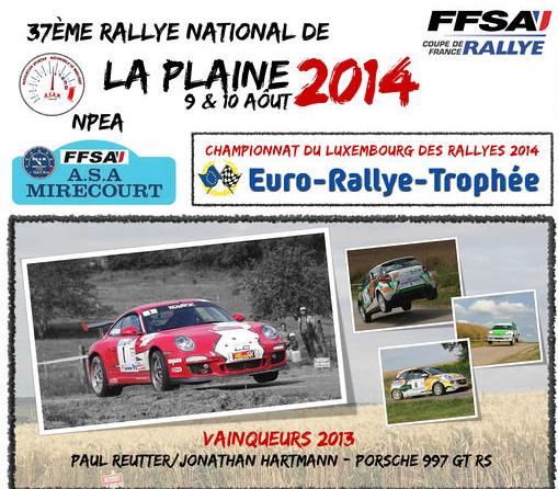 Classement Direct Rallye Plaine 2014