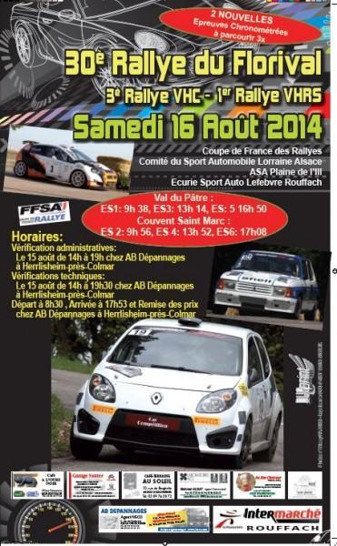 Direct Rallye du Florival 2014