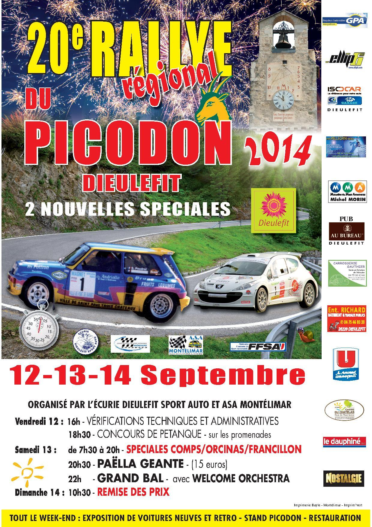 rallye du picodon 2014. Black Bedroom Furniture Sets. Home Design Ideas