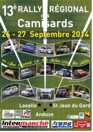 Classement Rallye des Camisards 2014