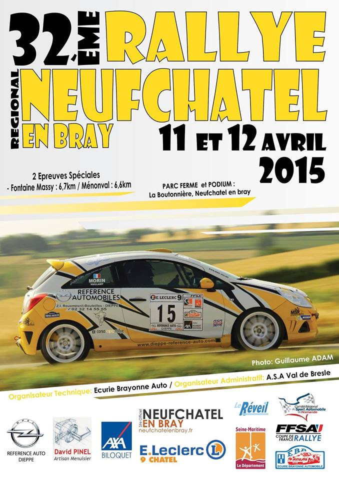 Programme Rallye Neufchatel en Bray 2015