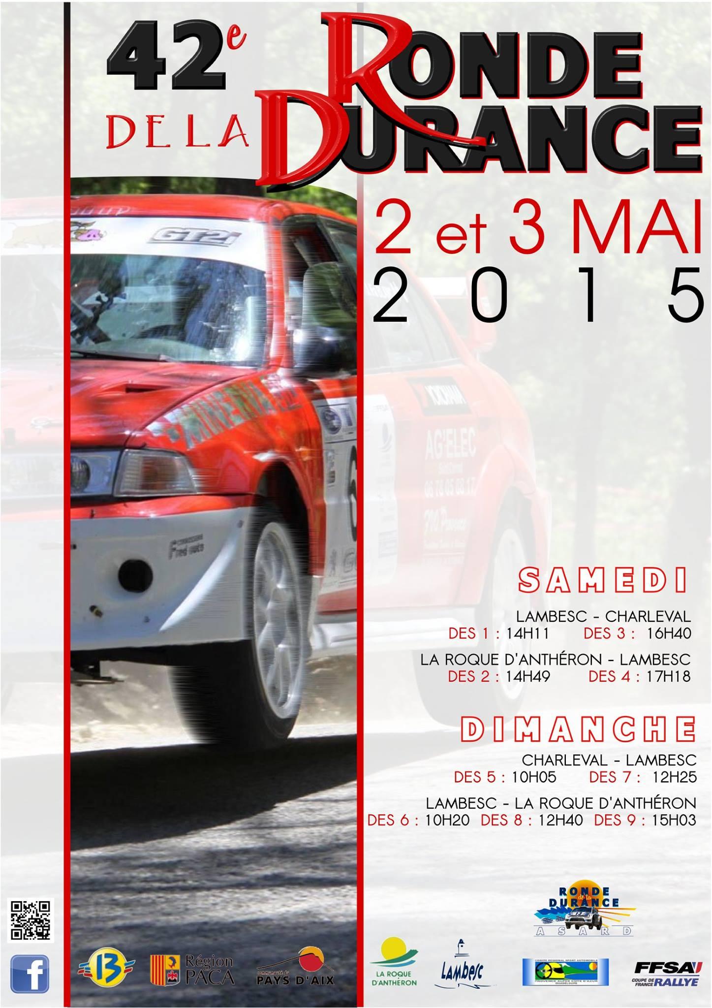 Liste des engagés Rallye Ronde de la Durance 2015