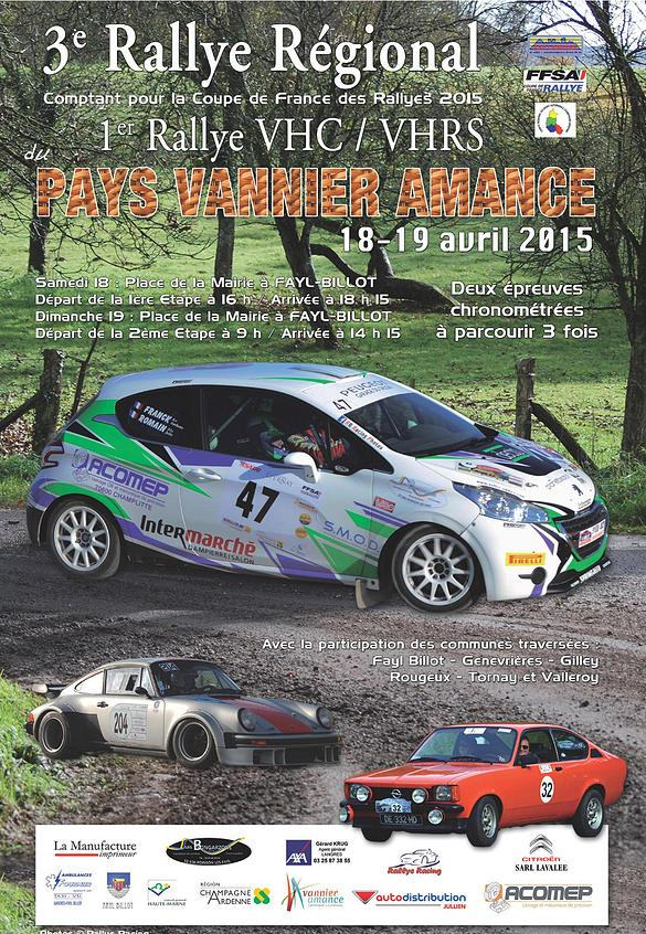 Direct Rallye du Pays Vannier 2015