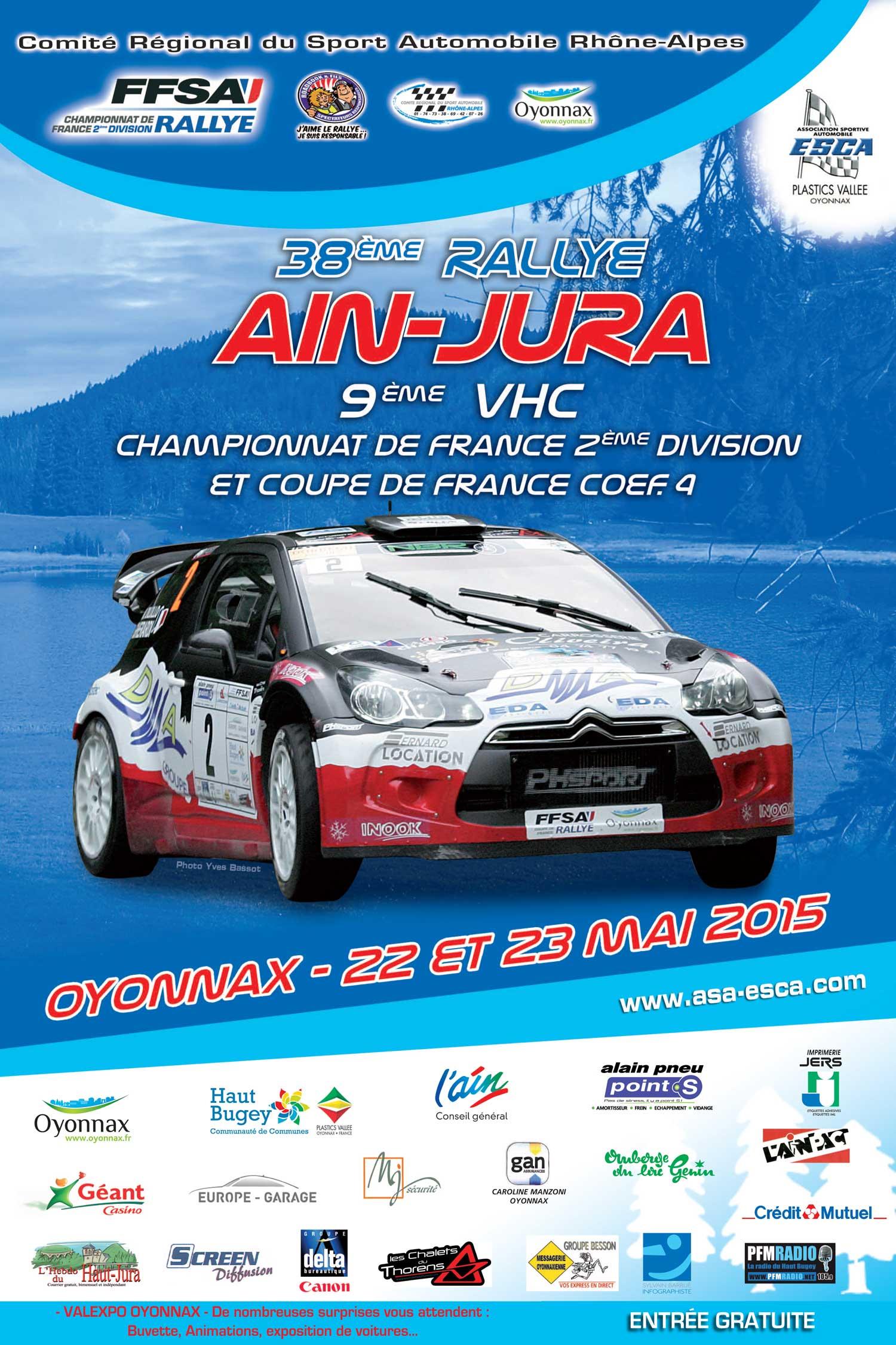 Rallye Ain Jura 2015