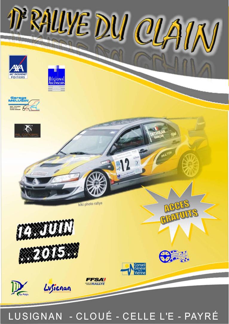 Rallye du Clain 2015