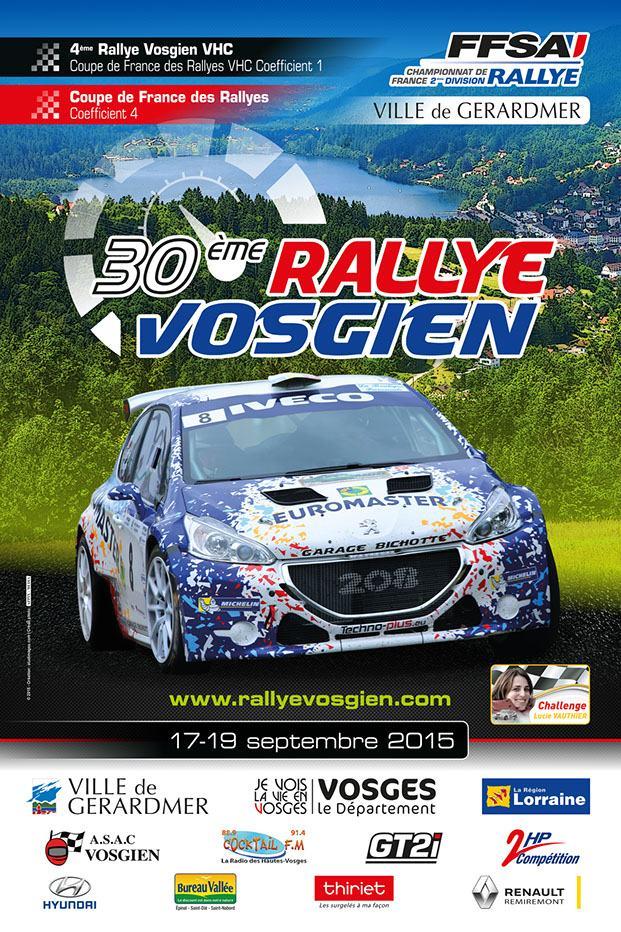 Liste des engag s rallye vosgien - Calendrier coupe de france des rallyes 2015 ...