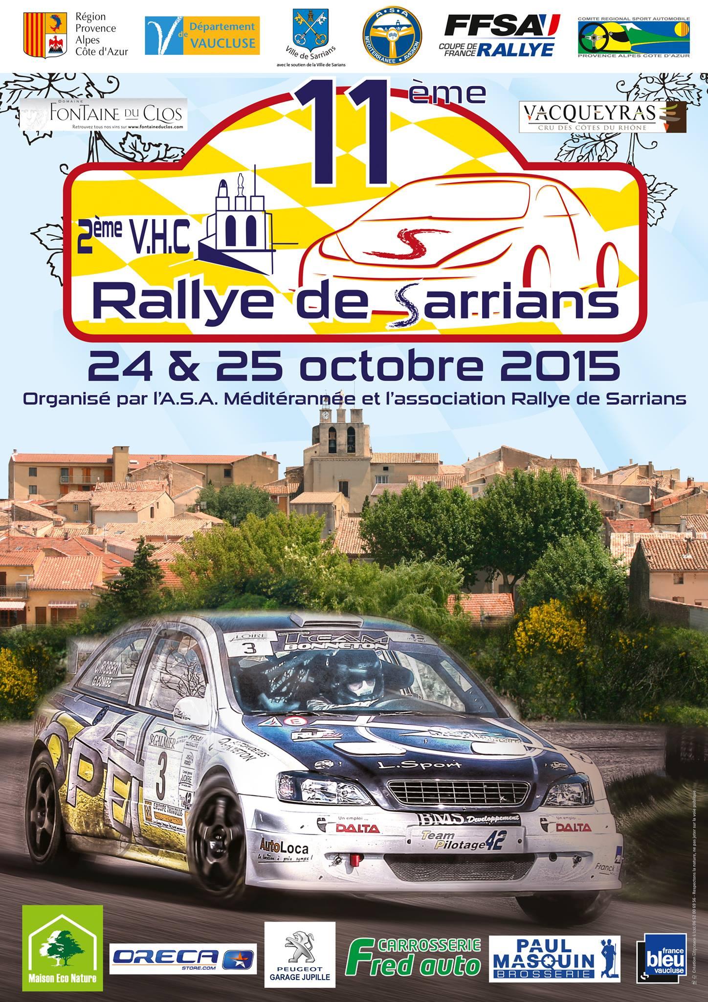 Rallye de Sarrians 2015
