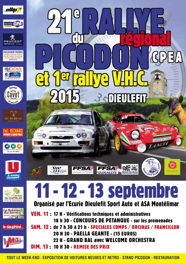 rallye du picodon 2015. Black Bedroom Furniture Sets. Home Design Ideas
