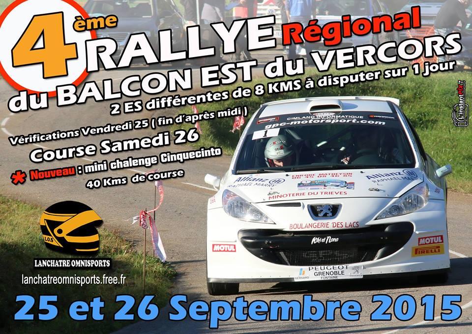 Rallye Balcon Est Vercors 2015