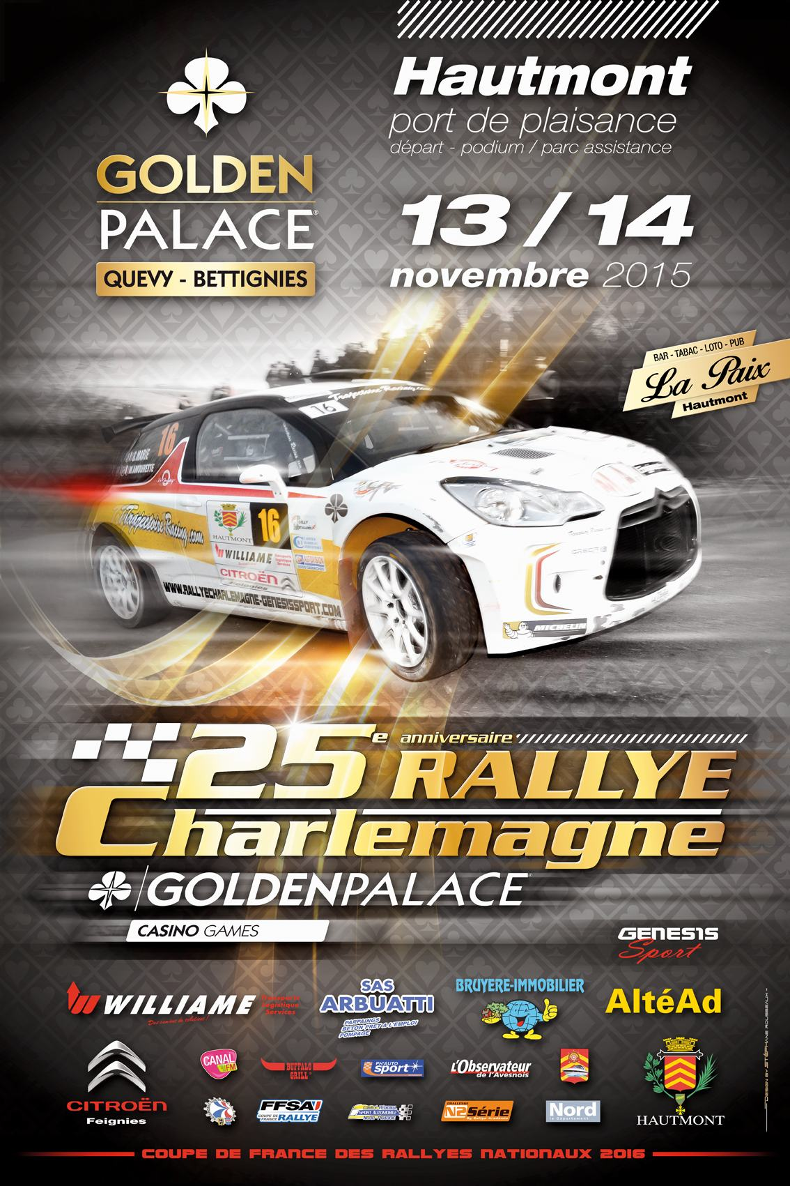 Liste des engag s rallye de charlemagne 2015 - Calendrier coupe de france des rallyes 2015 ...