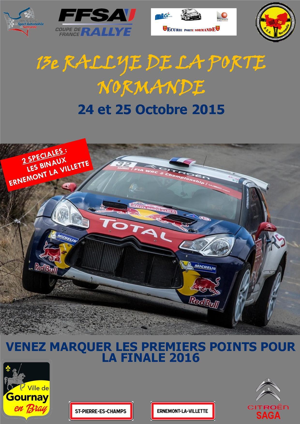 Rallye de la Porte Normande 2015 Affiche