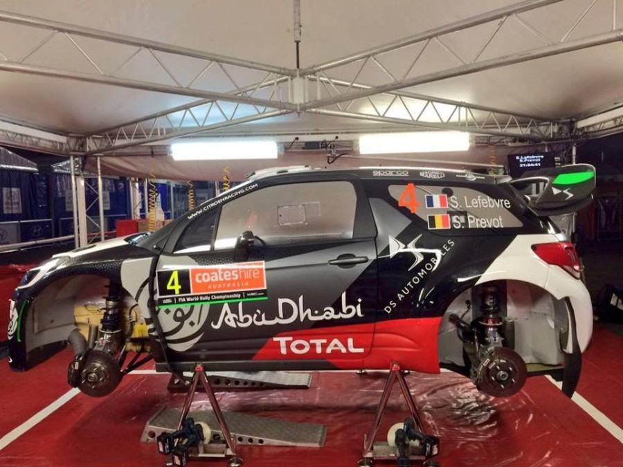 Shakedown Rallye d'Australie 2015