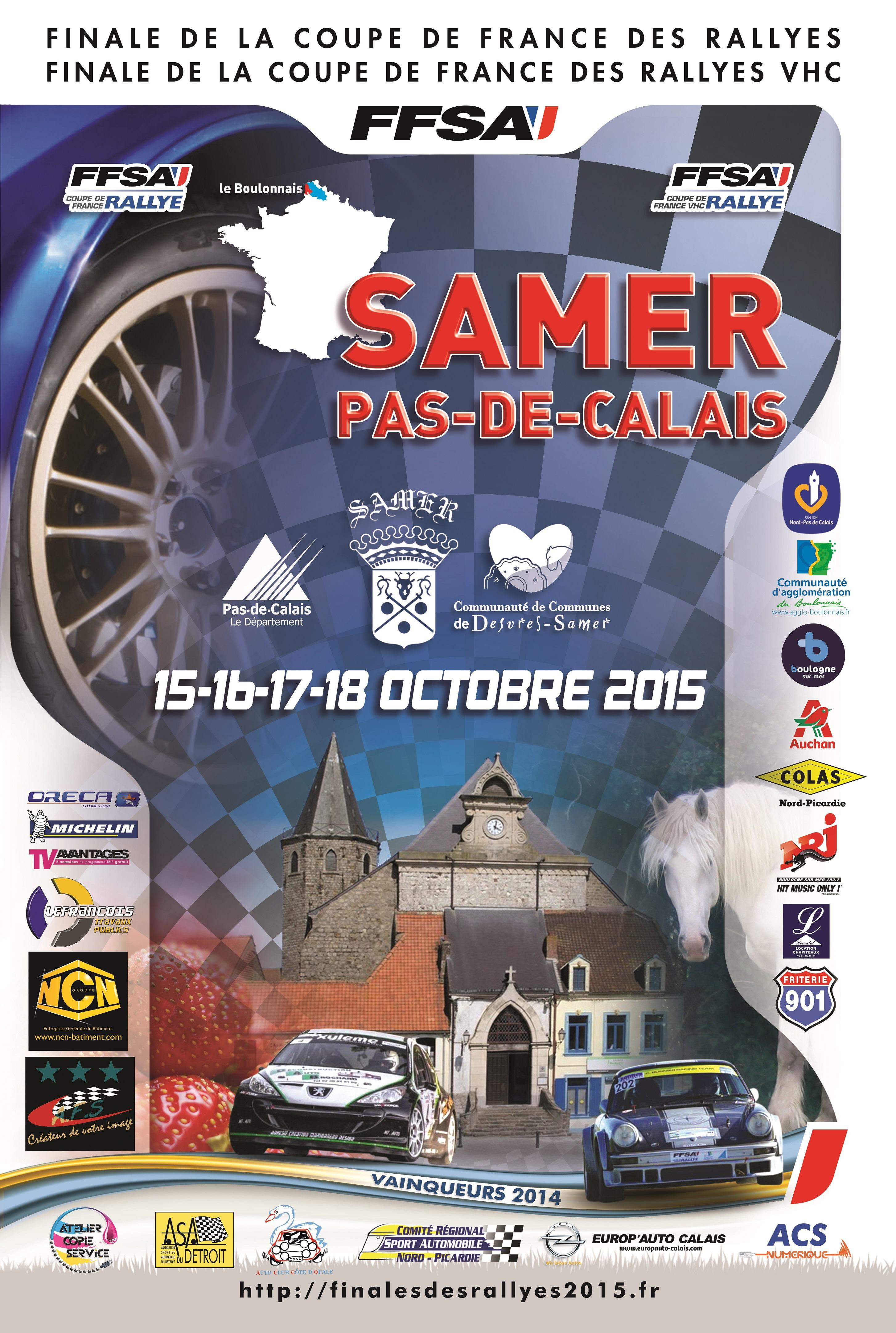 Liste des engag s finale des rallyes 2015 vhc - Calendrier coupe de france des rallyes ...