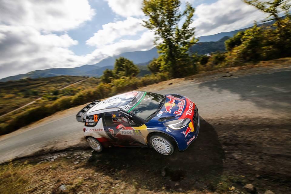 Lefebvre en DS3 WRC - Catalogne