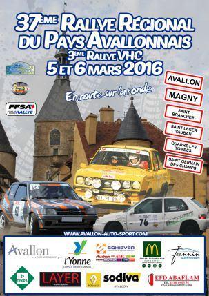 Rallye Pays Avallonnais 2016