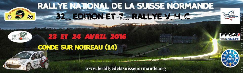 Liste des engages Rallye Suisse Normande 2016