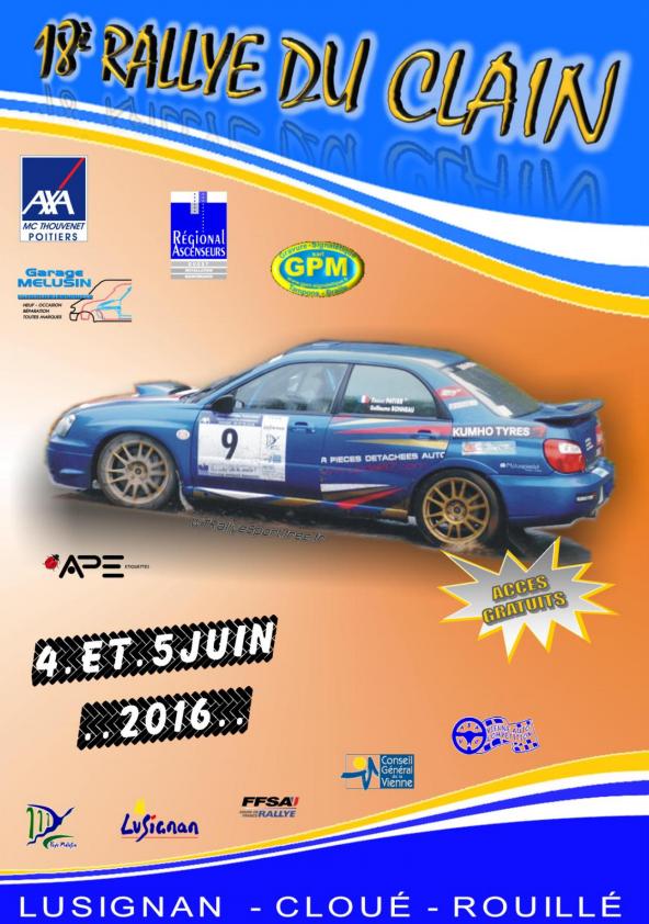 Rallye du Clain 2016