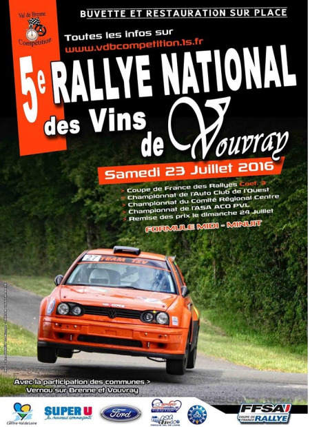 Rallye des Vins de Vouvray 2016