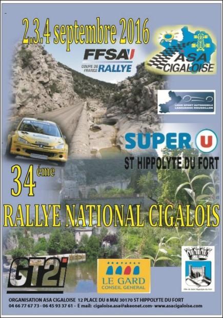 Rallye Cigalois 2016
