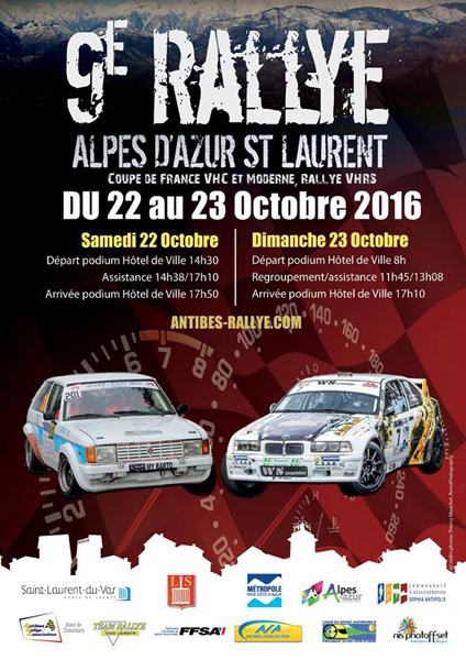 Rallye Alpes d'Azur St Laurent 2016