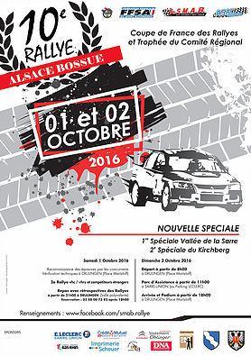 Rallye Alsace Bossue 2016