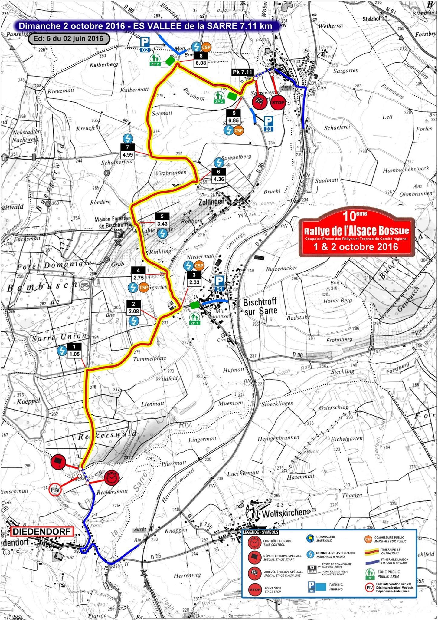 Carte Alsace Bossue.Rallye Alsace Bossue 2016