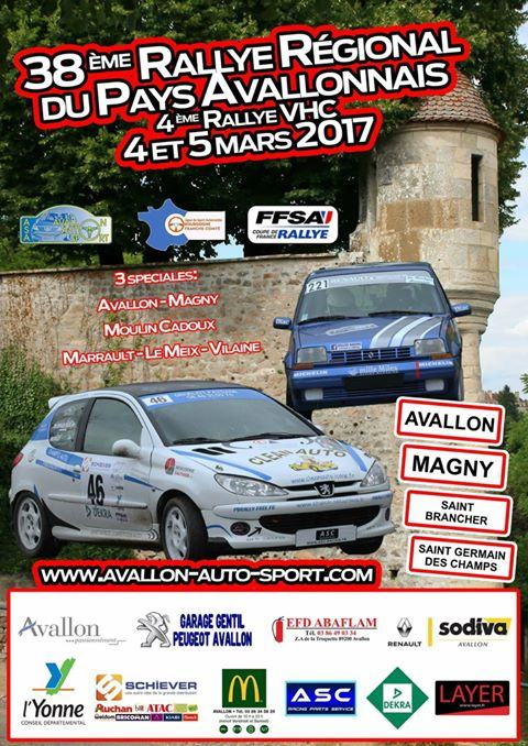 rallye du pays avallonnais 2017. Black Bedroom Furniture Sets. Home Design Ideas