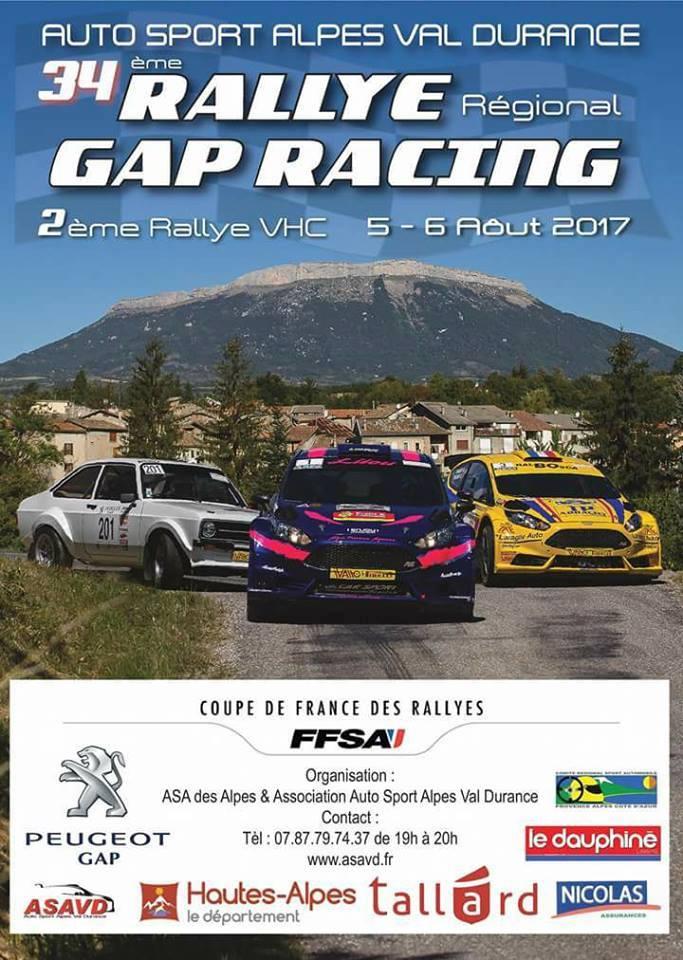 Rallye gap racing 2017