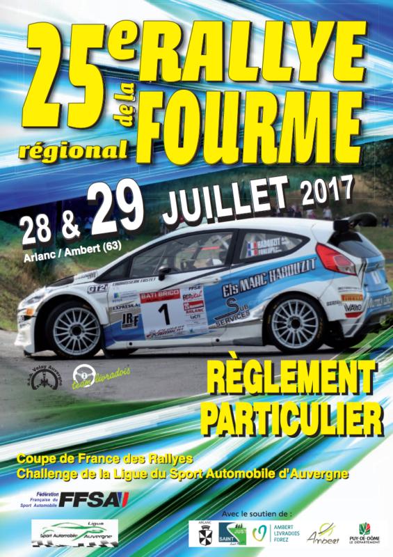 Liste des engag s rallye de la fourme d 39 ambert 2017 - Calendrier coupe de france des rallyes ...