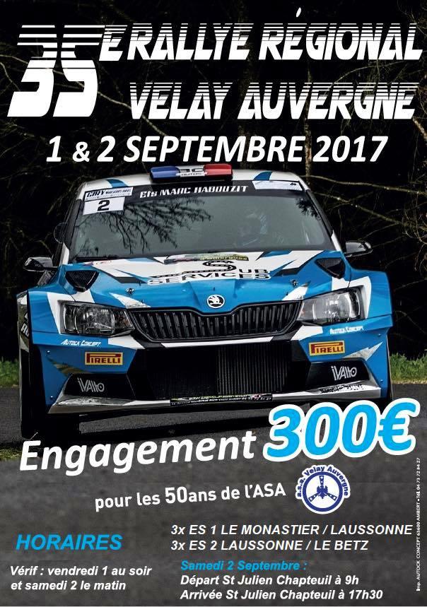 Rallye velay auvergne 2017