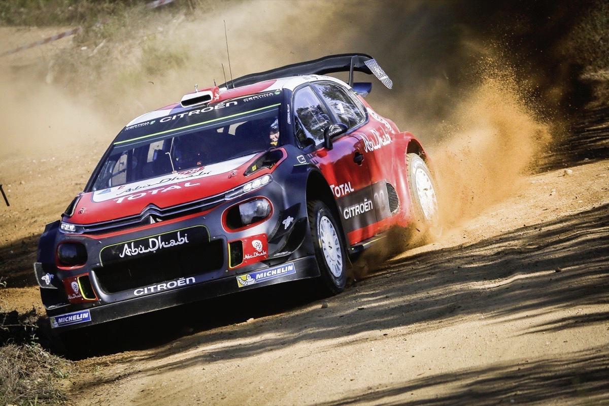 Loeb en essais avec la Citroën C3 WRC sur la terre