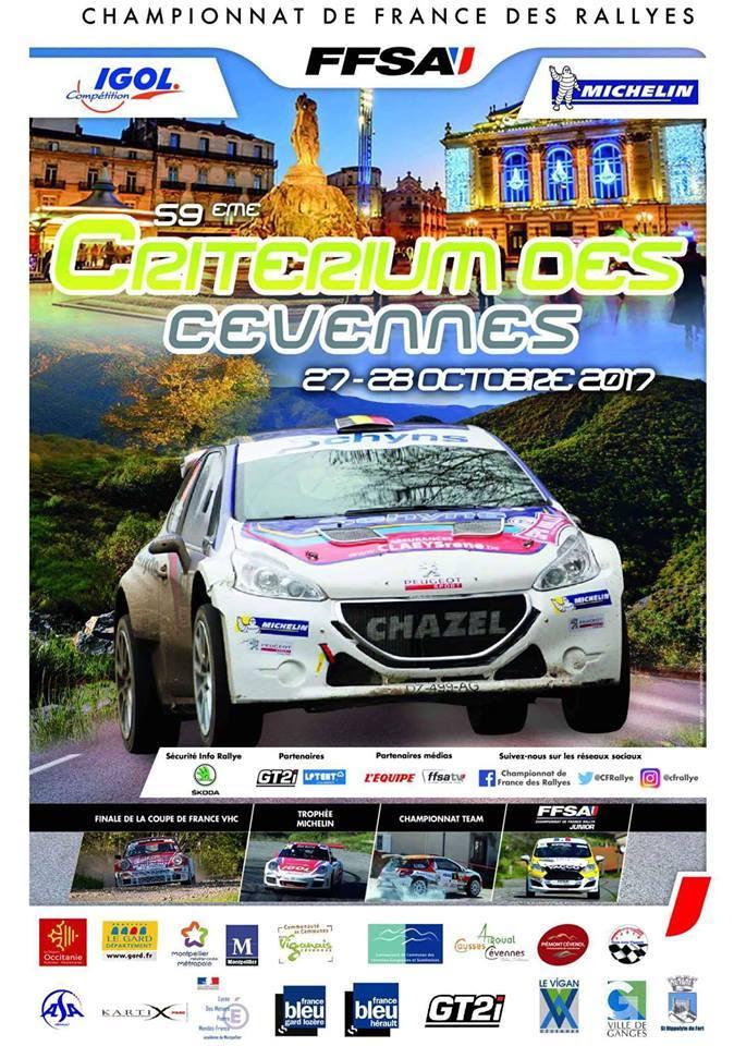 Rallye crit rium des c vennes 2017 - Calendrier coupe de france des rallyes ...