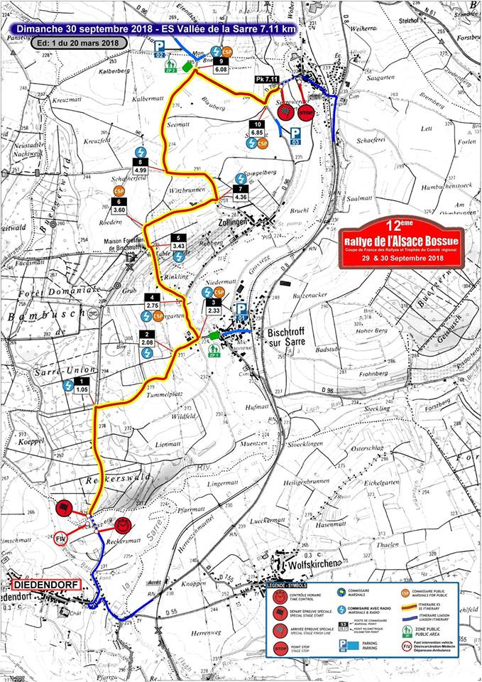 Carte Alsace Bossue.Rallye Alsace Bossue 2018