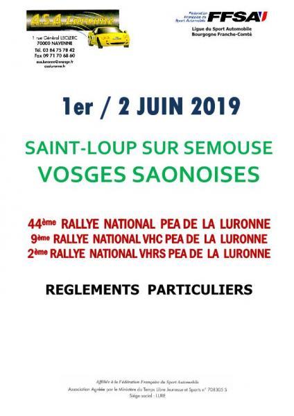 Rallye de la Luronne 2019