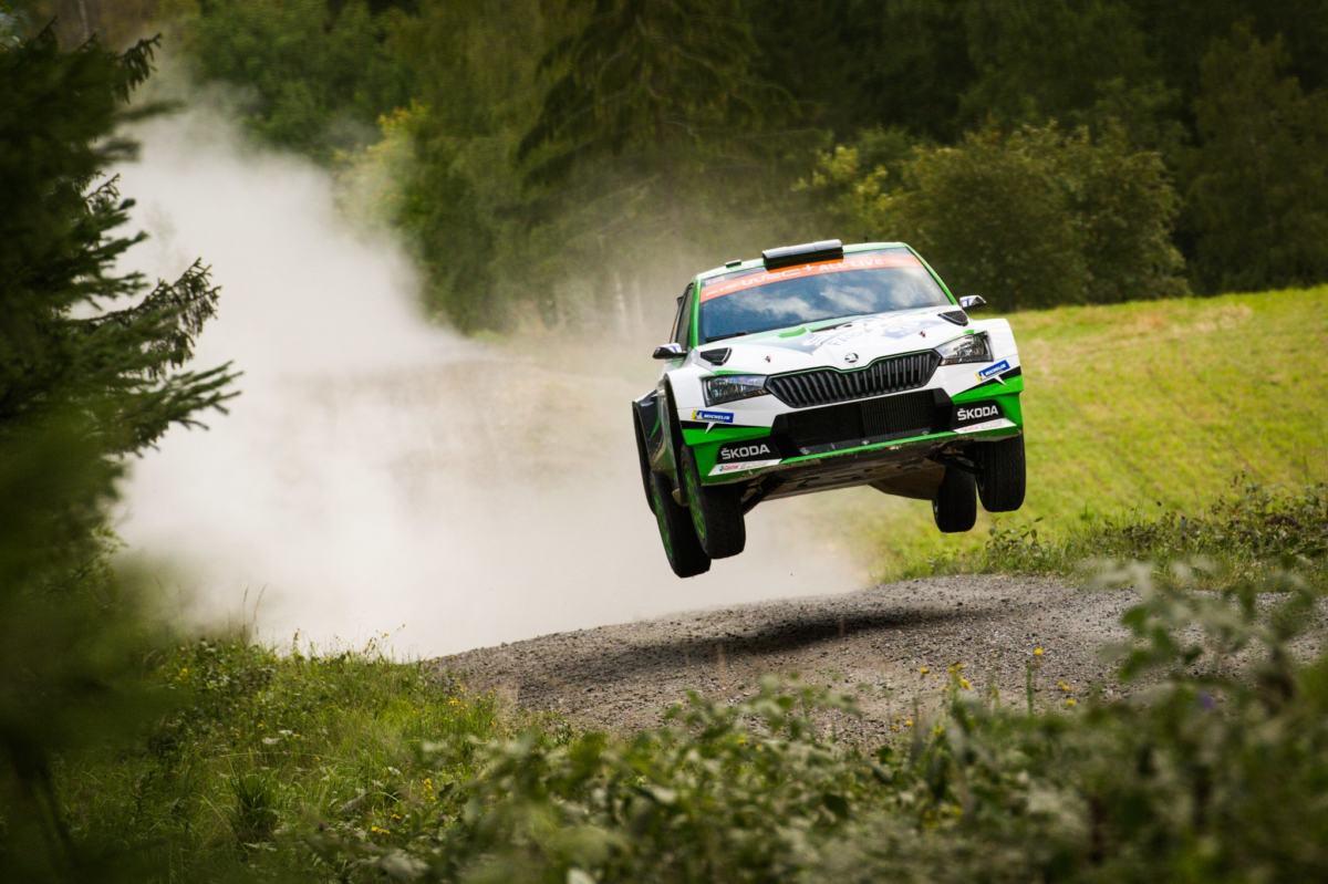 Valtteri Bottas à l'essai en WRC