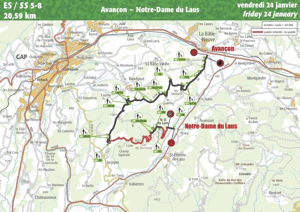 carte monte carlo 2020 Guide ES5/ES8 (Rallye Monte Carlo 2020)